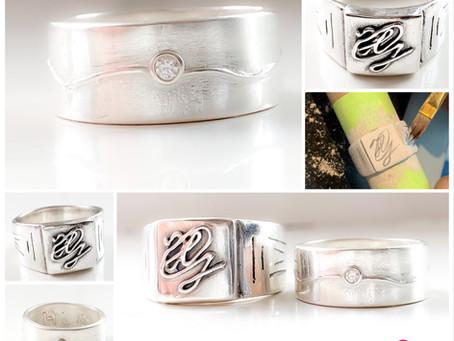 Ook heren kunnen stoere zilveren sieraden maken tijden de workshop