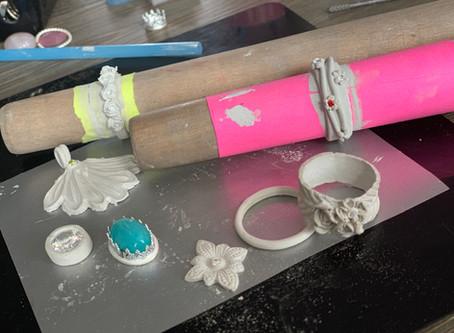 Work in progress   Zilverklei sieraden
