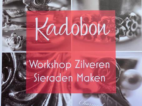Kadobon Workshop zilveren sieraden maken, een bijzonder kado