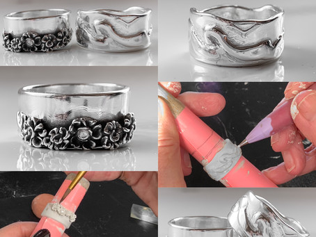 Zilverklei Workshop; Voorbeelden Zilveren ringen