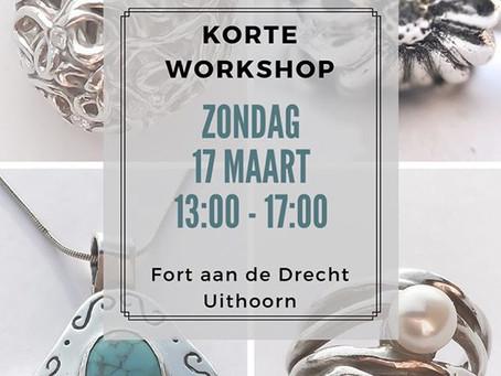 Zondag 17 maart in de Korte Workshop Zilverklei nog plaatsen beschikbaar