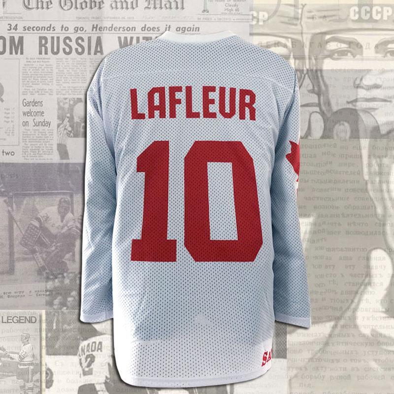 save off 86e9e 76522 Guy Lafleur 1981 Canada Cup Team Canada White Replica Jersey
