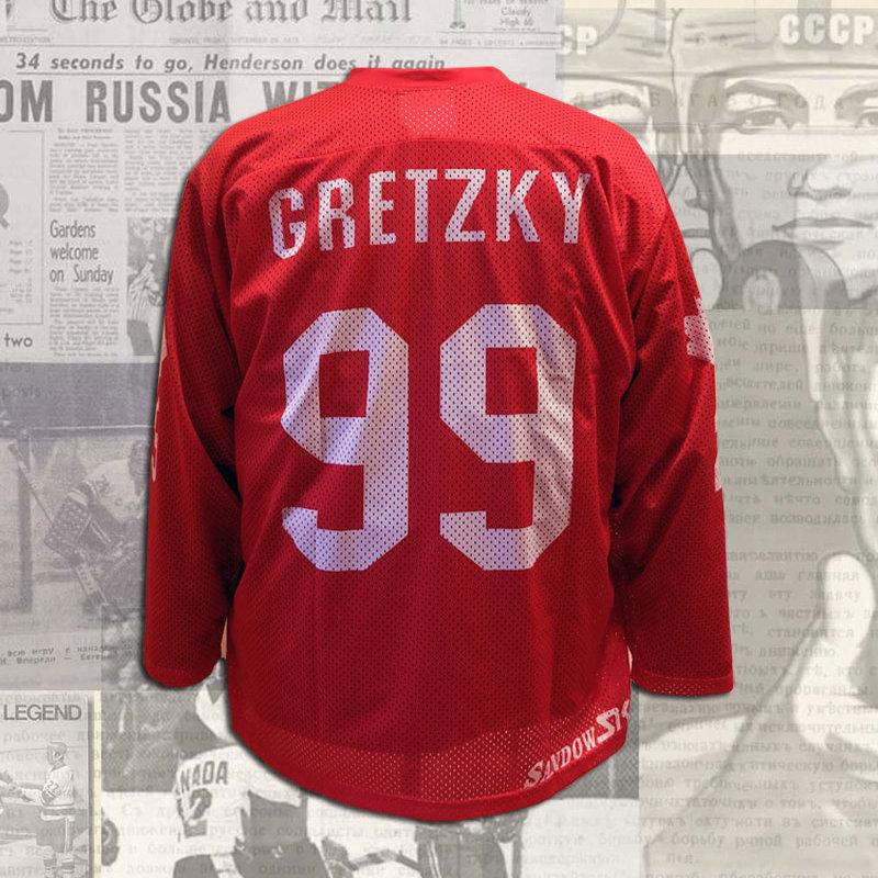 official photos 8114e a3bc1 Wayne Gretzky 1981 Canada Cup Team Canada Red Replica Jersey