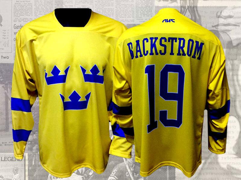 innovative design 6c912 ef657 Nicklas Backstrom Team Sweden New Jersey