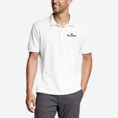All-Cotton Pique Short-Sleeve Polo