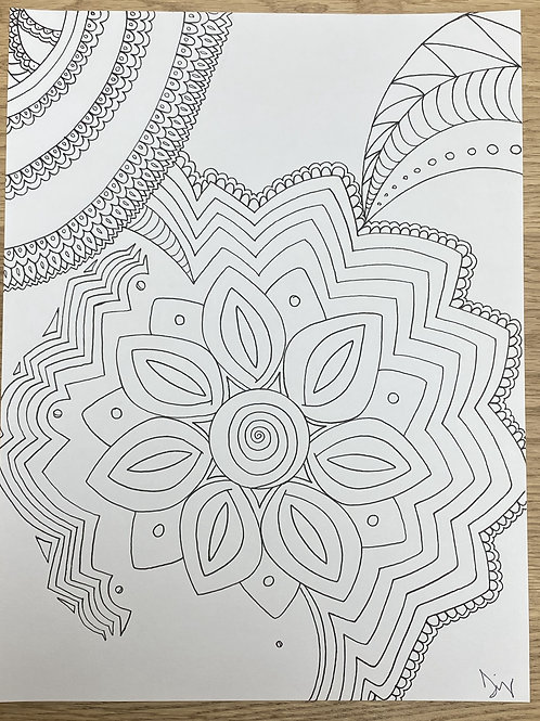"""Bloom"" Coloring Meditation"