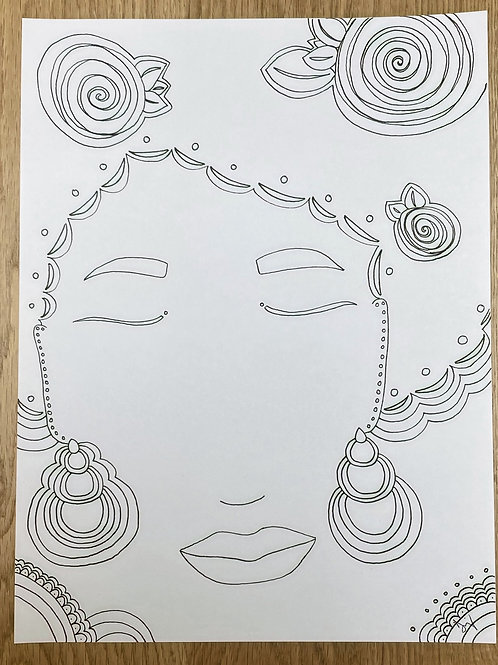 """""""Unbothered"""" Coloring Meditation"""