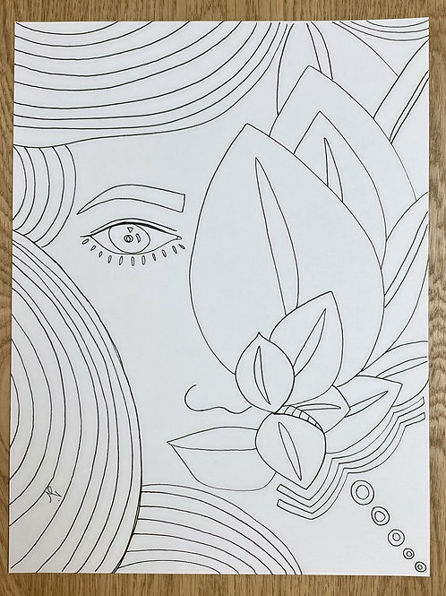 """I Been Bloomin' "" Coloring Meditation"