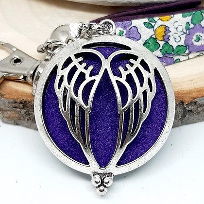 Bijou de sac  à parfumer - Ailes d'ange - violet