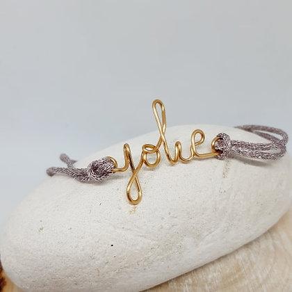 Bracelet cordon pailleté - Jolie