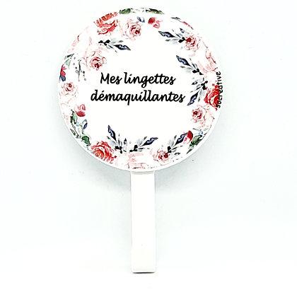 """Patère """"mes lingettes..."""" #rose"""