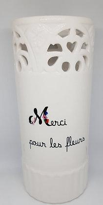 Vase - Merci pour les fleurs