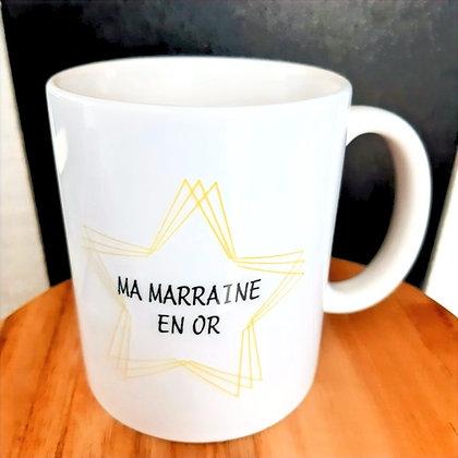 Mug Marraine en or