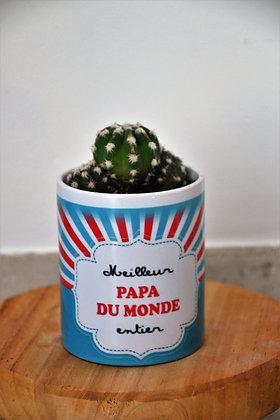Pot à cactus Meilleur Papa du monde