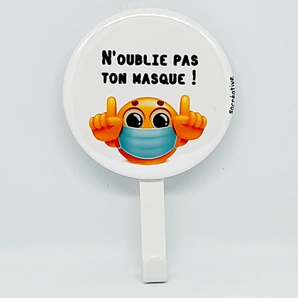 "Patère ""masque"" #smiley"