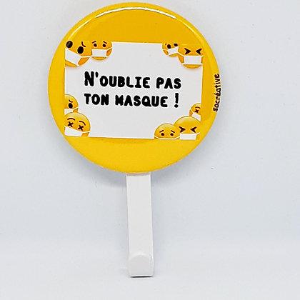 """Patère """"masque"""" #jaune"""