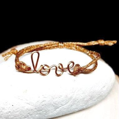 Bracelet cordon pailleté - Parfaite