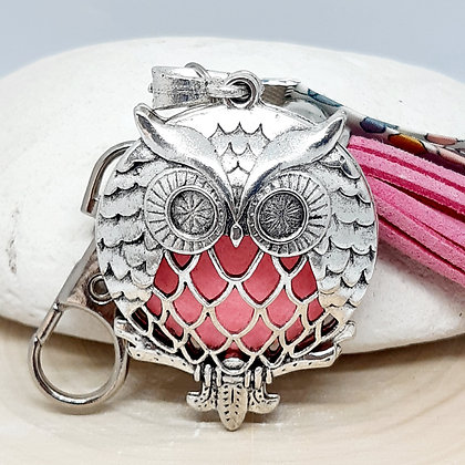 Bijou de sac  à parfumer - Chouette - rose