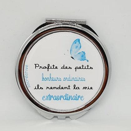 Miroir double - Papillon bleu