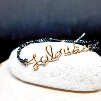 Bracelet cordon pailleté - Jalouse