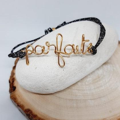 Bracelet cordon pailleté -Parfaite