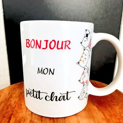 Mug Bonjour mon p'tit chat