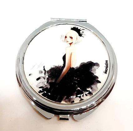 Miroir double aquarelle noire