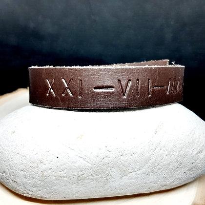 Bracelet en cuir - SAVE THE DATE