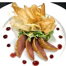 Port Poached Pear & Cambazola Salad