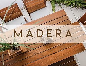 Muebles de madera para jardin