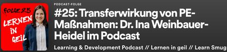 Podcast interview with Dr. Ina Weinbauer-Heidel (german)
