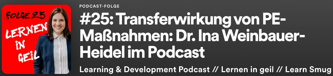 Podcast Interview mit Dr. Ina Weinbauer-Heidel
