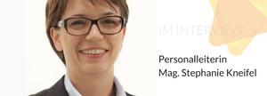 BILD_Mag. Stephanie Kneifel im Interview mit dem Institut für Transferwirksamkeit