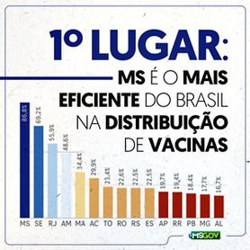 MS lidera ranking de distribuição de vacinas contra Covid-19