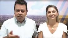 Em vídeo, LENILSO e LIDIANE agradecem aos votos recebidos pelos eleitores de Maracaju