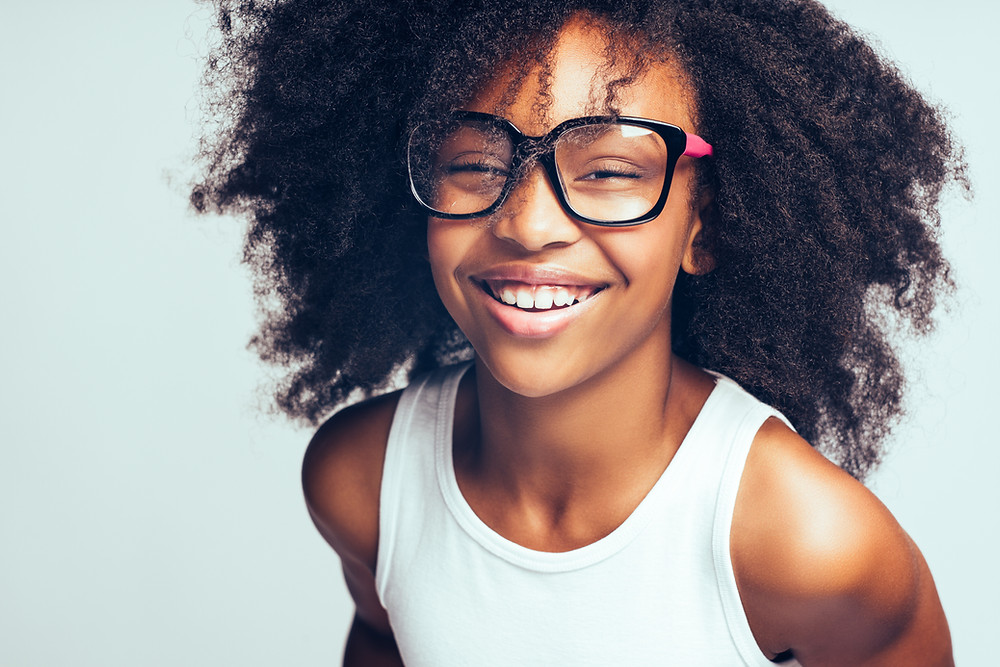 happy student wearing glasses, healthy lifestyle, eye care, optometry, back to school
