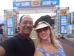 O Diretor-Presidente do Elo Social Brasil e do Grupo INER, Sr. Jomateleno dos Santos Teixeira e a Di