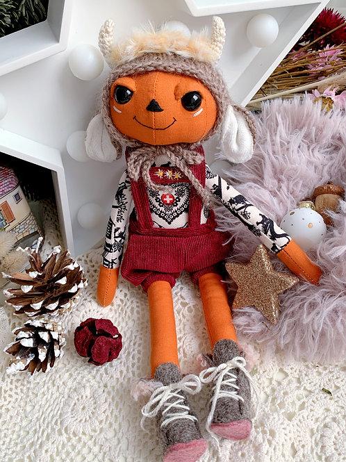 RESERVED FOR JANE BooBoo Swiss Brown  Pumpkin