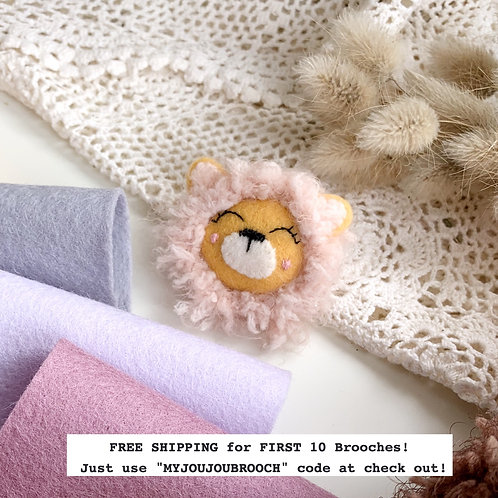 DESIGN YOUR  Lion Wool Brooch ONLY 2 SPOTS