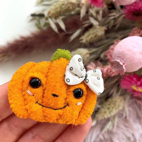 Boba Pumpkin Brooch