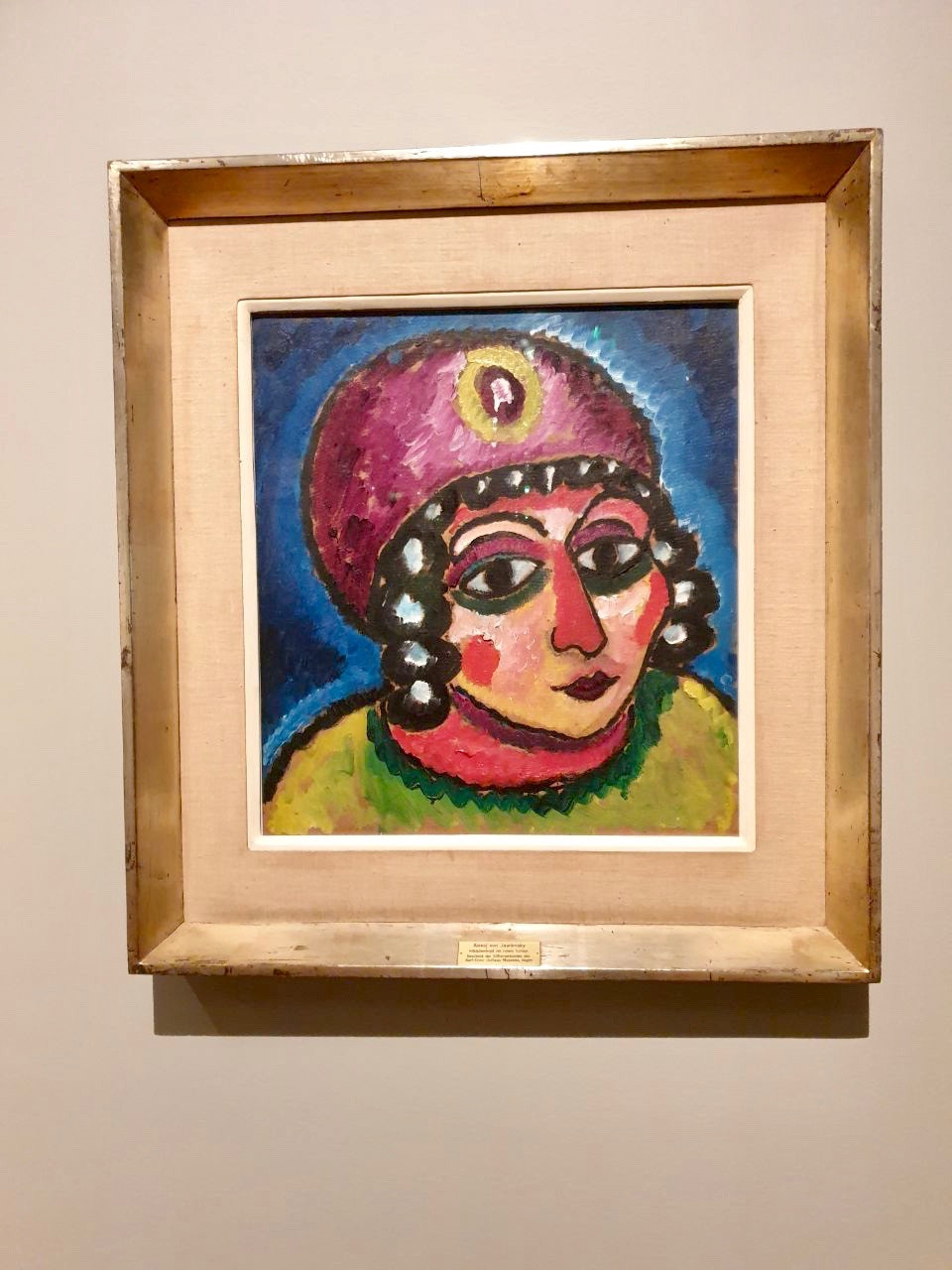 """Head Of A Girl With A Red Turban And A Yellow Clasp"" by Alexej von Jawlensky, 1912"