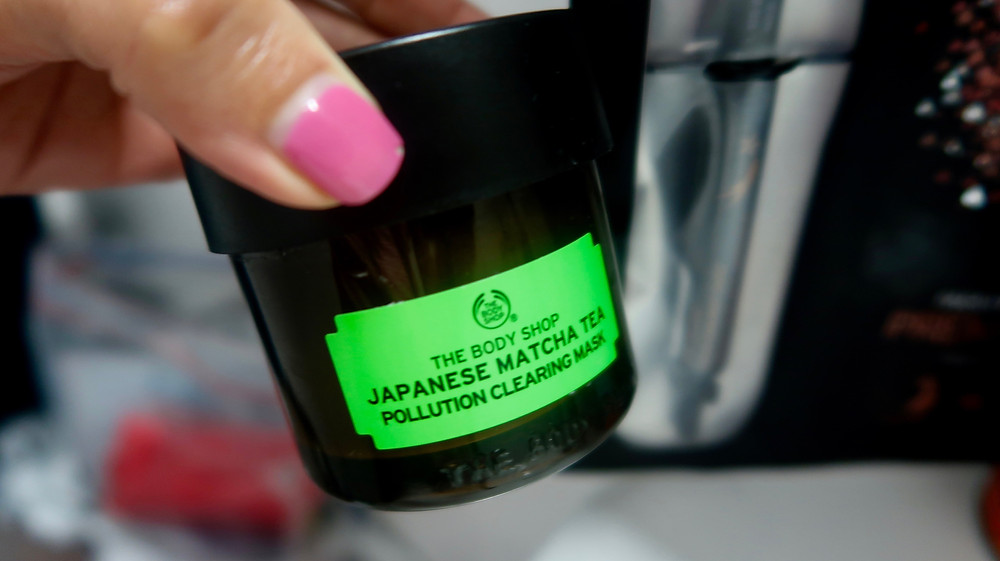 Japanese Matcha Tea Pollution Clearing Mask by The Bodyshop Review Kirasha