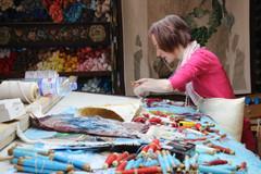 Artist working