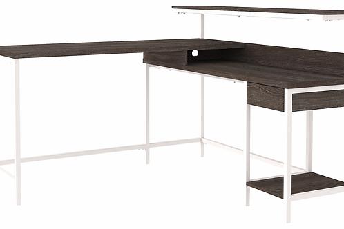 Dorrinson Two-Tone L-Desk with Storage