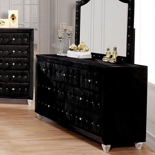 Alzire Black Tufted Dresser
