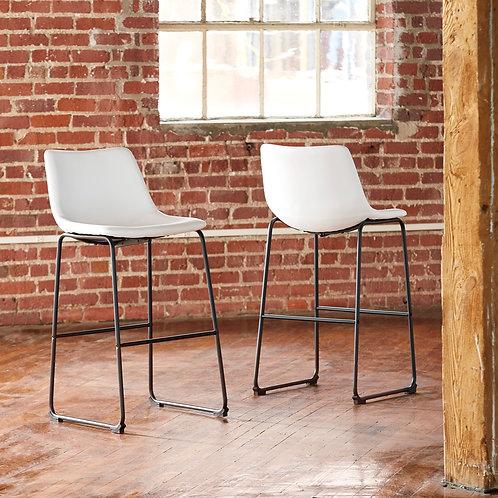Centair White Tall Upholstered Barstools