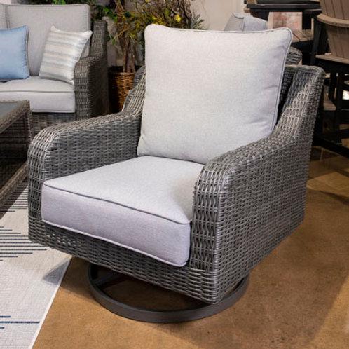 Elite Park Gray Outdoor Swivel Lounge Chair