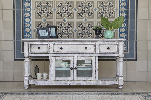 Aruba White TV / Sofa Table