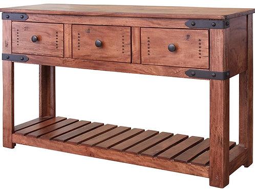 Parota II Natural Two-Tone Sofa Table