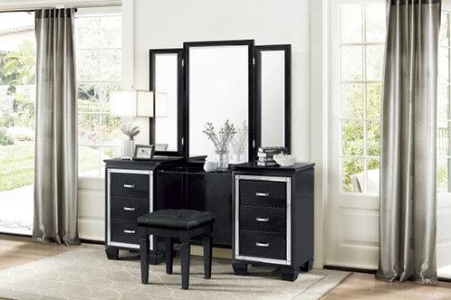Allura Black Vanity w/ Mirror